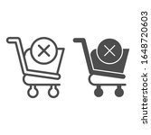 remove from shopping cart line... | Shutterstock .eps vector #1648720603