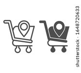 map pointer with shopping cart... | Shutterstock .eps vector #1648720633