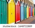 Beautifully Coloured Beach Huts ...
