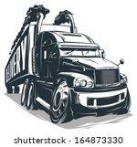 vector cartoon truck   Shutterstock .eps vector #164873330