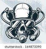 vector diver skull | Shutterstock .eps vector #164873390