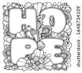 hope composition in doodle... | Shutterstock .eps vector #1648734109
