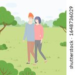 man and woman  couple in love... | Shutterstock .eps vector #1648736029