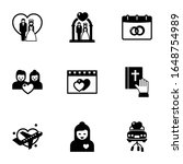 9 couple filled icons set... | Shutterstock .eps vector #1648754989