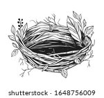 illustration of a bird's nest.... | Shutterstock .eps vector #1648756009