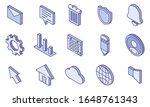web ui isometric icon set. user ...
