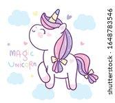 cute pony vector  princess... | Shutterstock .eps vector #1648783546