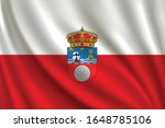 flag of cantabria waving in the ... | Shutterstock .eps vector #1648785106