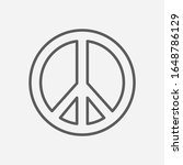 peace sign icon line symbol....