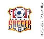soccer football badge red and... | Shutterstock .eps vector #1648790806