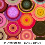 abstract moving circular lines  ... | Shutterstock . vector #1648818406
