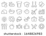cooking line icons. boiling... | Shutterstock . vector #1648826983