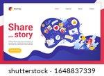 share your story website... | Shutterstock .eps vector #1648837339
