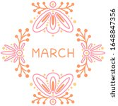 March Month Name Text Letterin...