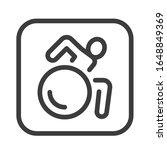wheelchair person black line...
