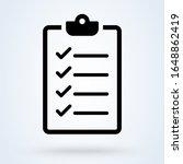 clipboard or checklist icon in...