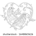 ornate decorative couple of... | Shutterstock .eps vector #1648865626