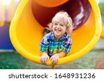 Child playing on outdoor...