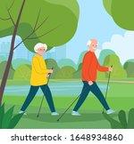 happy senior couple making... | Shutterstock .eps vector #1648934860