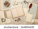 antique accessories  old...   Shutterstock . vector #164894630