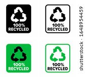 """made from """"100  recycled""""...   Shutterstock .eps vector #1648954459"""