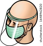 head with surgical medical face ... | Shutterstock .eps vector #1648962820
