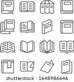 book icons set vector...   Shutterstock .eps vector #1648986646