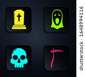 set scythe   tombstone with...   Shutterstock .eps vector #1648994116