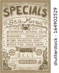 vintage fishery blackboard cut... | Shutterstock .eps vector #164902529