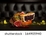 gourmet duck dish with onion... | Shutterstock . vector #164905940