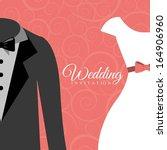 wedding design over  pink...   Shutterstock .eps vector #164906960