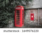 Traditional Phone Box In A...