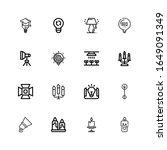 editable 16 illumination icons...   Shutterstock .eps vector #1649091349