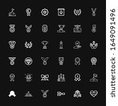editable 36 medal icons for web ... | Shutterstock .eps vector #1649091496