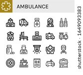 ambulance simple icons set.... | Shutterstock .eps vector #1649093383