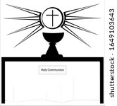 holy communion one of the seven ... | Shutterstock .eps vector #1649103643