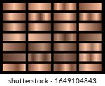 vector set of bronze metallic... | Shutterstock .eps vector #1649104843