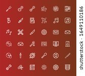 editable 36 setting icons for... | Shutterstock .eps vector #1649110186