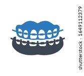 tooth brace icon  orthodontics...