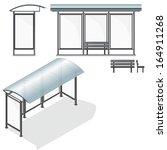 bus stop. empty design template ... | Shutterstock .eps vector #164911268