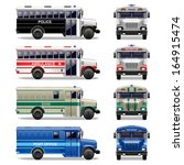 vector special bus icons | Shutterstock .eps vector #164915474