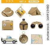 vector travel icons set 3 | Shutterstock .eps vector #164915480