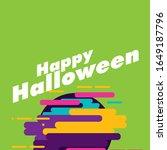 happy halloween  beautiful...   Shutterstock .eps vector #1649187796
