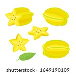 Vector Set Of Exotic Fruit...