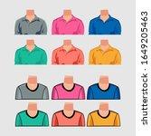 big set of vector colorful... | Shutterstock .eps vector #1649205463