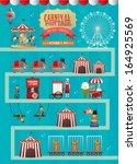 fun fair  fairground  circus... | Shutterstock .eps vector #164925569