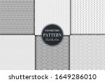 set of 6 black and white... | Shutterstock .eps vector #1649286010