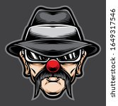 Old Man Clown Chicano Vector...