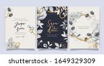 luxury wedding invitation ... | Shutterstock .eps vector #1649329309