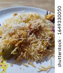 Small photo of Hyderabad spicy and tasty veritable biryani